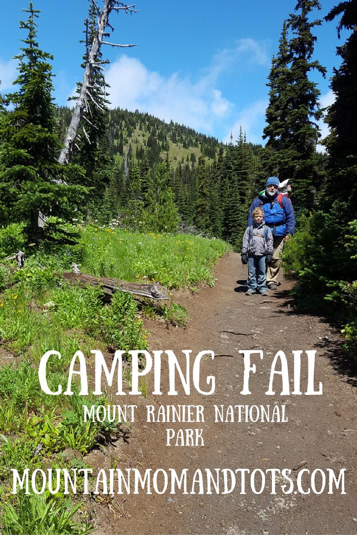 Camping Fail Rainier Pin