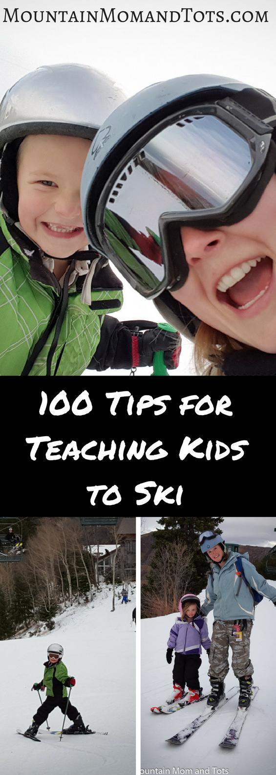 100 Tips for Teaching Kids to Ski Pin