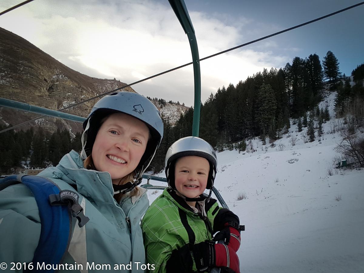 Teach kids to ski: On Ski Lift