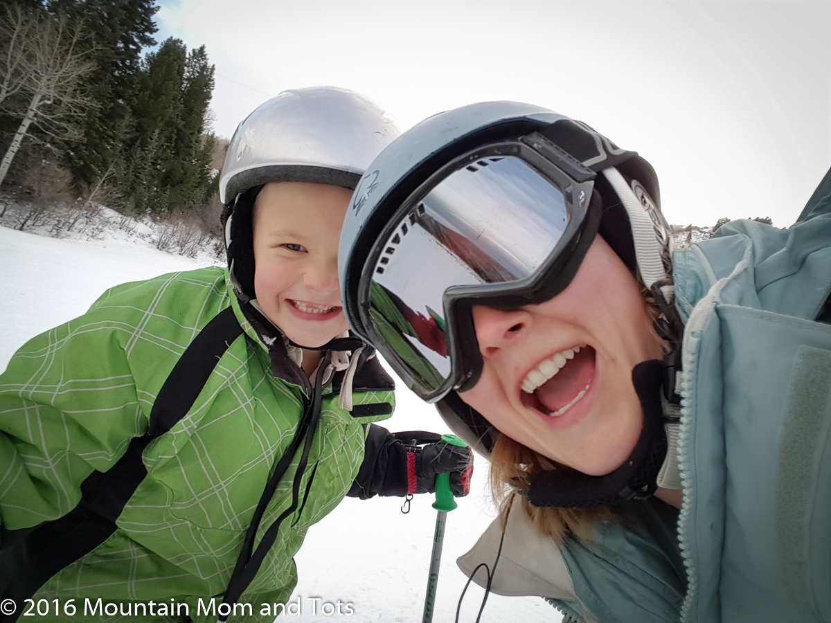 Big E and Mountain Mom on the slopes