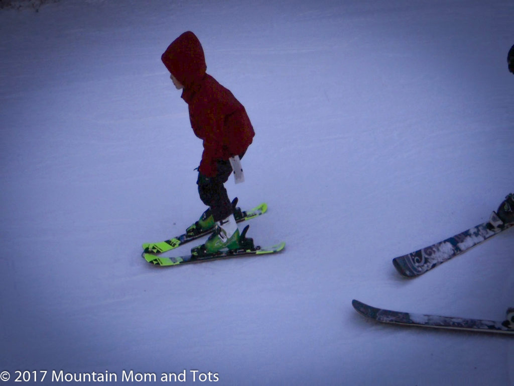Benny from Arizona raced down the bunny hill on a family vacation to the mountains.
