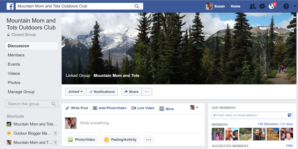 Outdoors Club Facebook Group