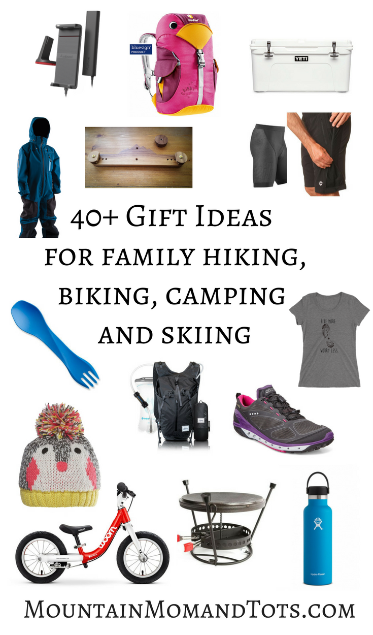Gift ideas for family hiking, biking, skiing and camping