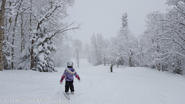 Little G Skis in a Snowstorm