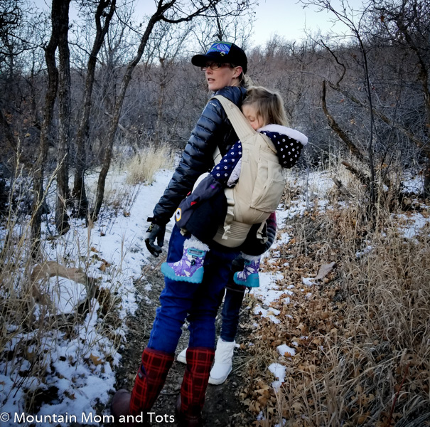 Winter hiking with Baby L