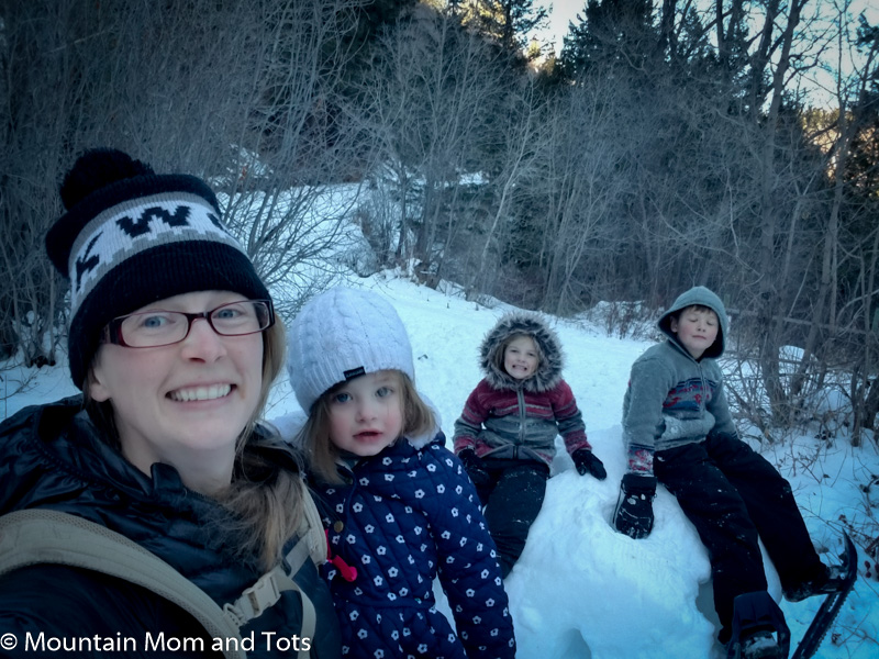 Winter Hiking with the tots