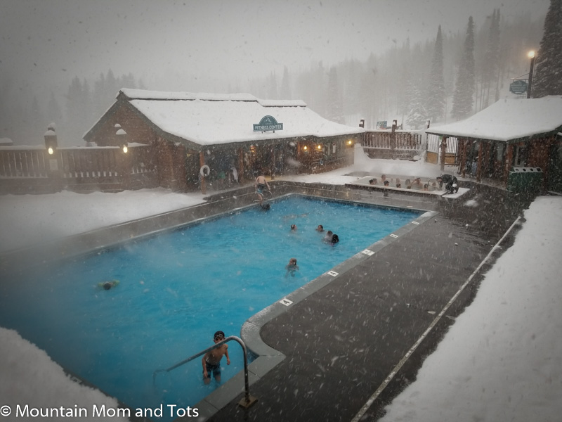 Swimming Pool with snow